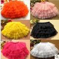 girls tutu skirts Summer candy color baby girl skirt children pettiskirts Hallowmas silk casual chiffon fluffy