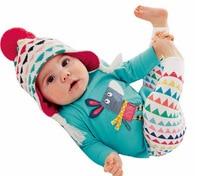 Europa und die Vereinigten Staaten herbst kleine esel anzug baby zwei sätze von kinderbekleidung anzug hosen