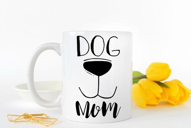 Dog Mom Mugs Tea Cups Coffee Mug Home Decal Wine Cup Whiskey Beer Ceramic