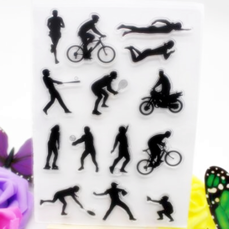 SCS64 Sport Silicone Clear Stamps for Scrapbooking DIY Album Cards Decoration Embossing Folder Craft Rubber Stamp Tools Mold New in Stamps from Home Garden