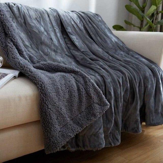 fashion warm wool blanket polyester winter autumn blanket thick warm