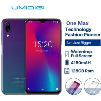 Umidigi One Max Global Version 4gb 128gb 6.3 Waterdrop Full screen 4150mah Dual Camera Smartphone Nfc Wireless Charging Face Id