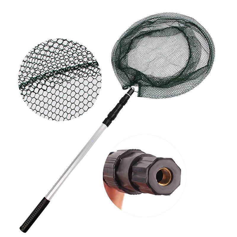 Hiena 1.7 m Liga De Alumínio Landing Rede De Pesca Malha de Nylon Mão Net Para Peixes Dobrável Pesca Da Carpa Telescópica Rede de Mergulho