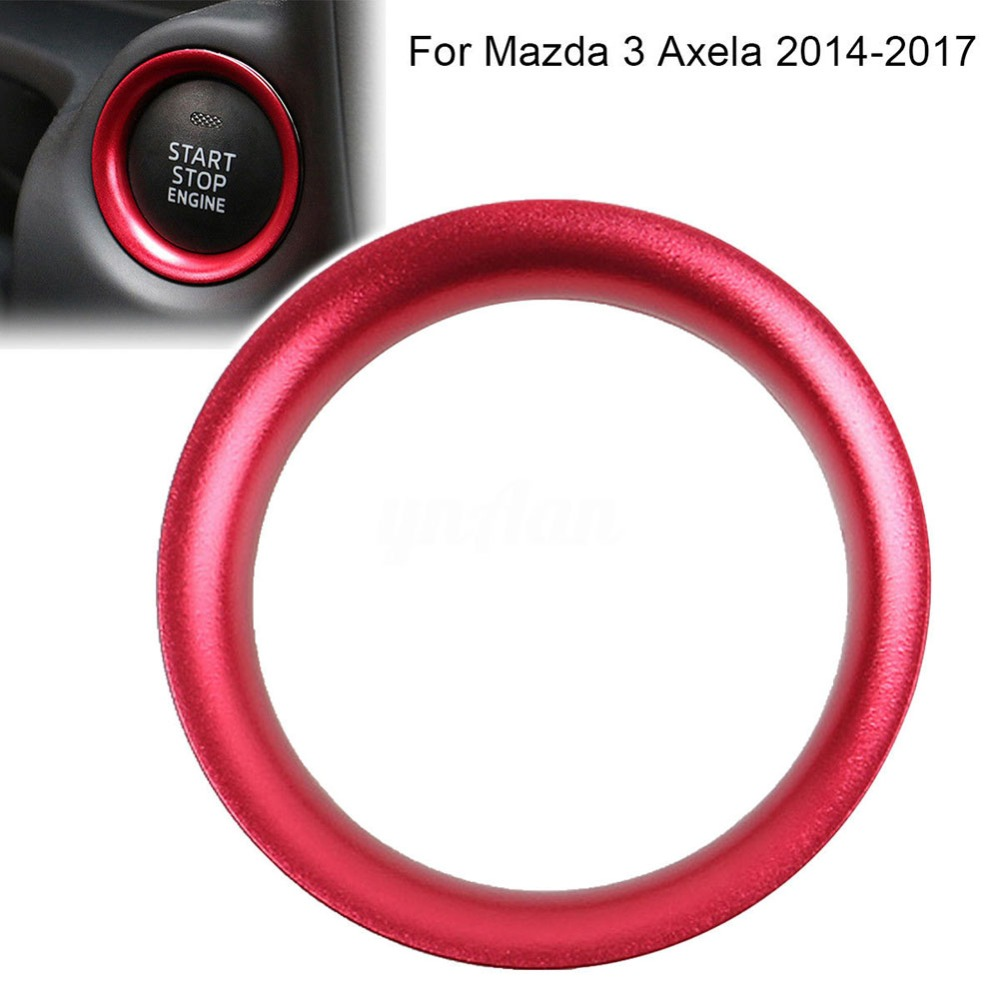 Car styling Aluminum Alloy Engine Start Stop Ring Trim Ignition Key Ring Interior Accessories cover