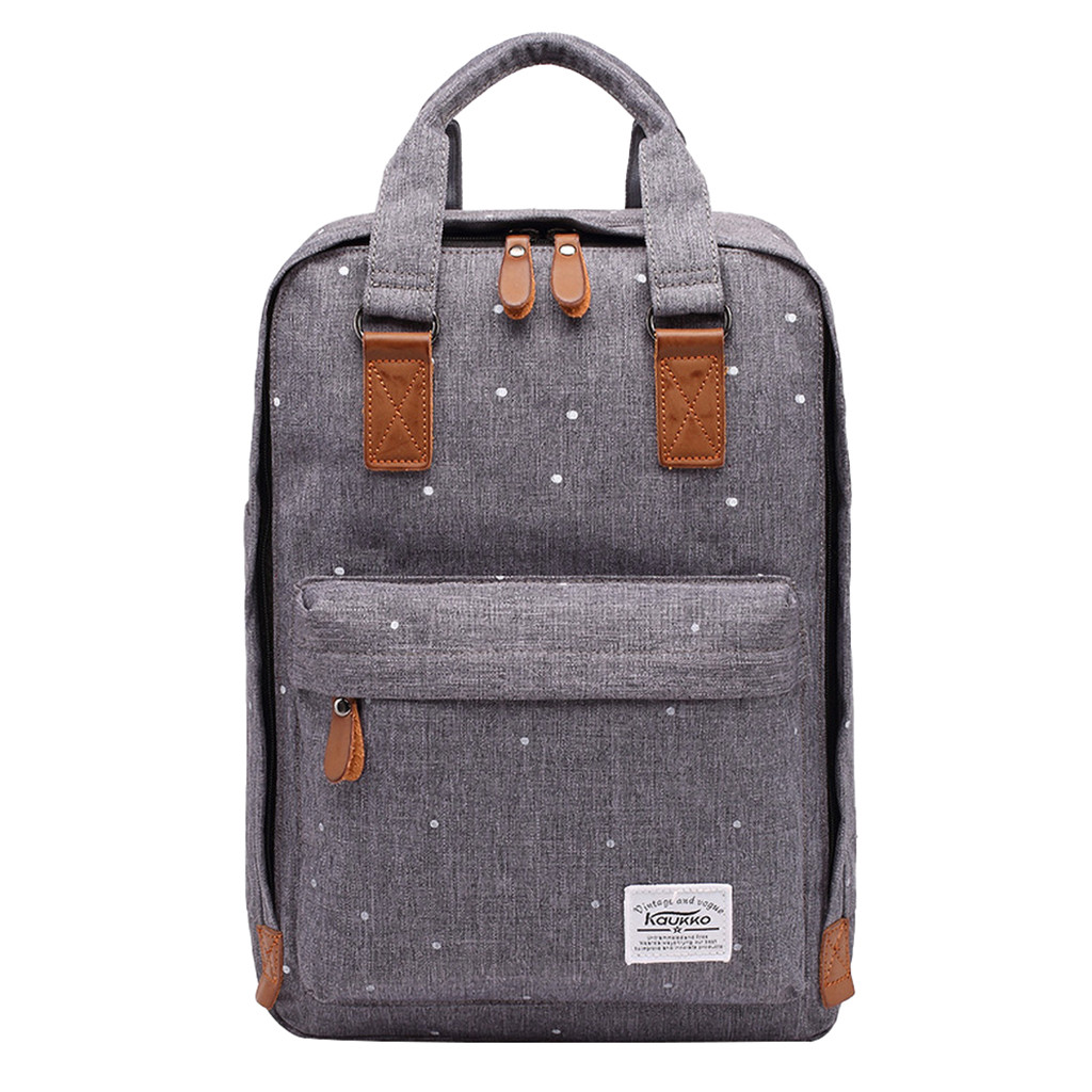 Mochila Canvas Backpack School-Bags KAUKKO Vintage Travel Casual Women Students And