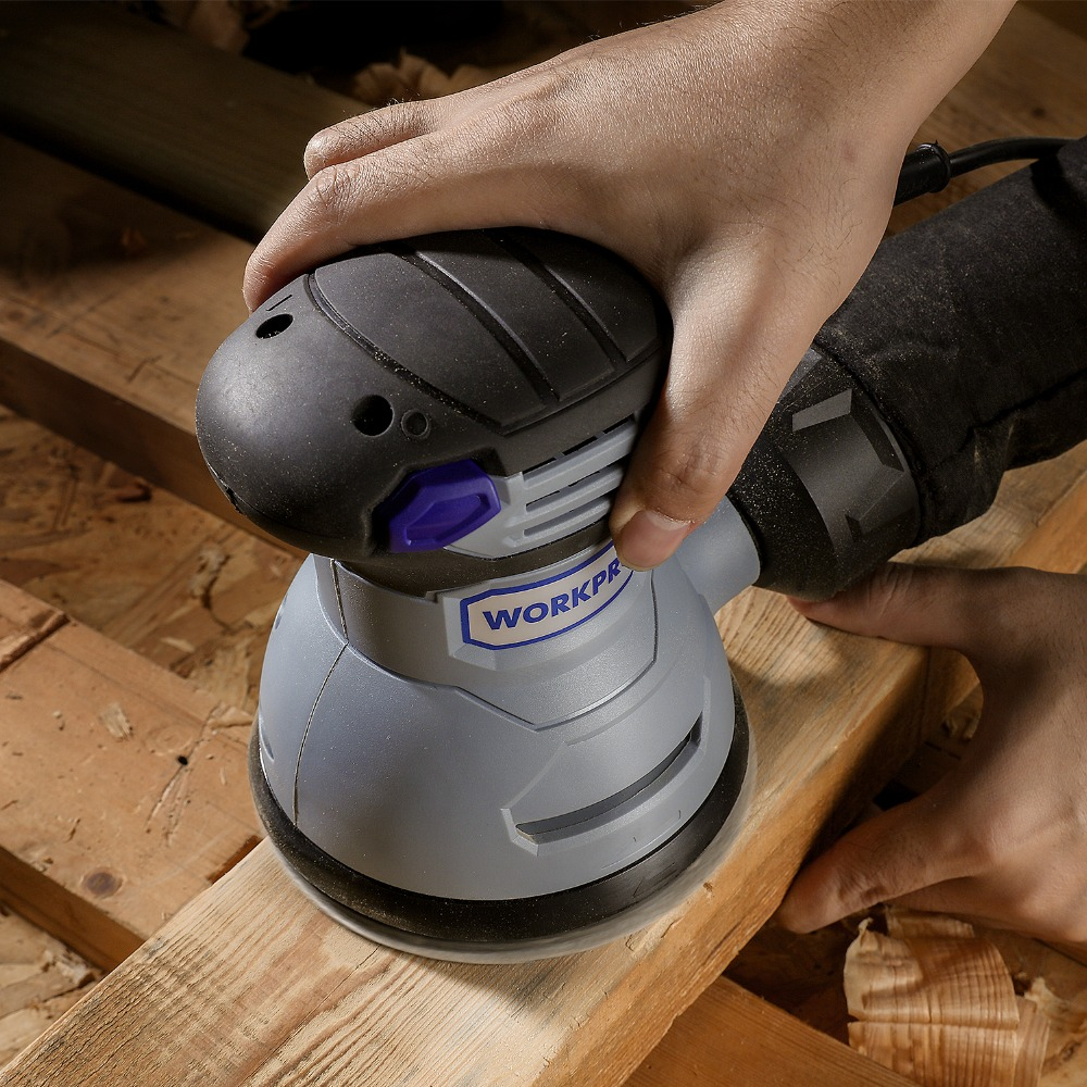 Image 3 - WORKPRO 300W Random Sander with Variable Speed Random Orbit Sander with 10PC sandpaper Dust exhaust and Hybrid dust canister-in Sanders from Tools on