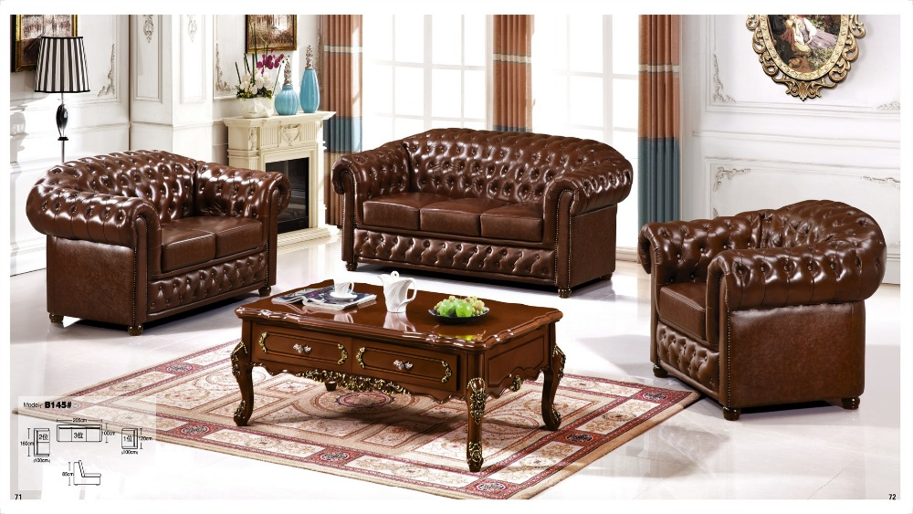 Iexcellent Modern Design Genuine Leather Sectional Sofa Set Living Room Furniture 1 2 3 In Sofas From On