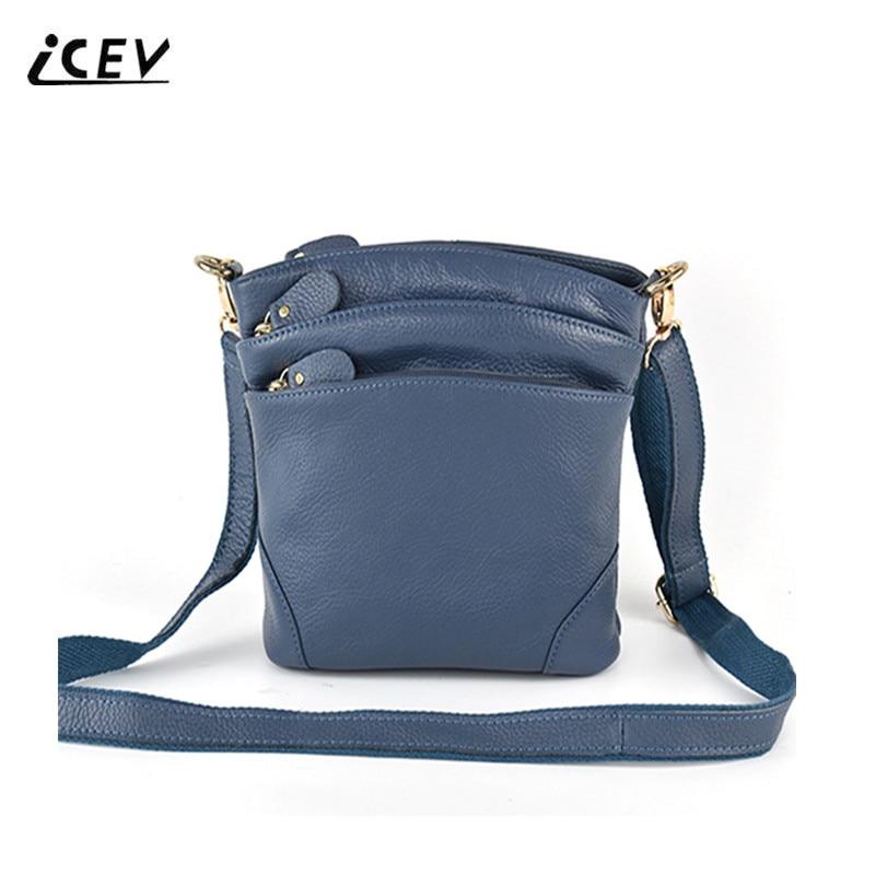 ICEV Hot Sale 100% Genuine Leather Bags Handbags Women Famous Brands Organizer Women Leather Handbags Ladies Women Messenger Bag icev 100