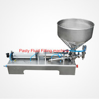 50 500ml Pneumatic Pasty Food Filling Machine Sticky Pasty Filler Stainless Hot Sauce Bottling Equipment Beverage