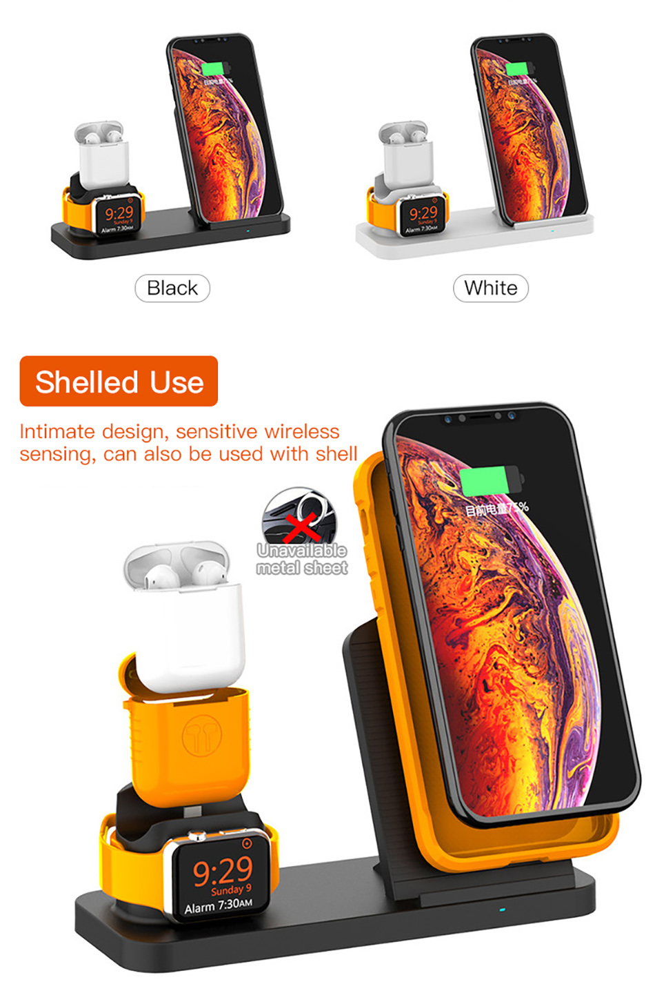 !ACCEZZ Fast Wireless Charger For Apple Watch 1 2 3 4 For iphone XS MAX XR X Samsung Xiaomi Phone Magnetic Charger For Airpods 2 (2)