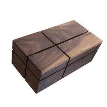 Простой Ретро стиль деревянная коробка для салфеток уникальный черный орех деревянная коробка для салфеток украшение дома