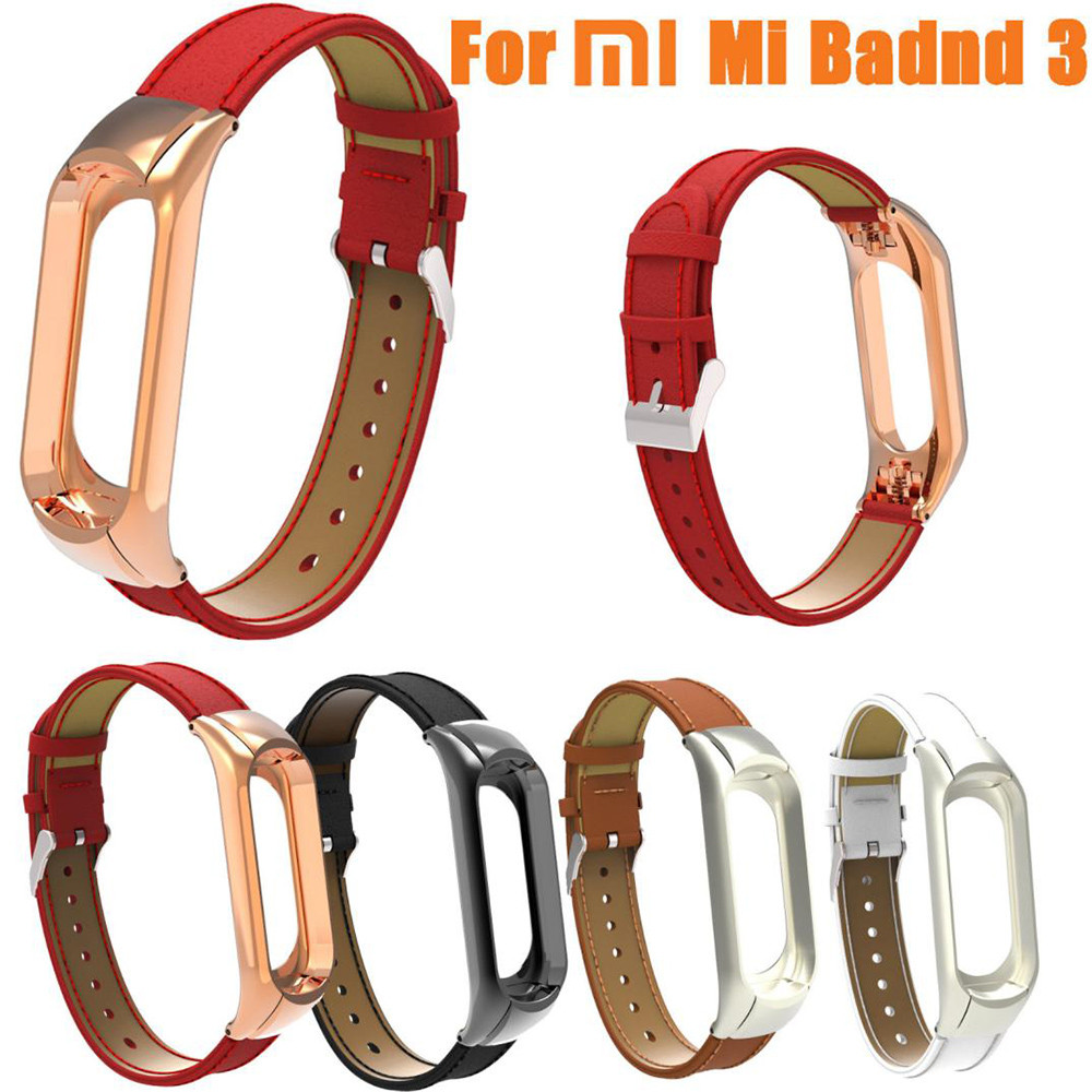 Watchband Replacement Wristband Band Strap + Metal Case Cover for Xiaomi Mi Band 3 Bracelet Female Belt Watch Men Watchband
