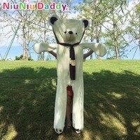 Niuniu папа огромный плюшевый мишки кожи носить шарф Unstuffed Witn хлопковые куклы медведь плюшевые игрушки для подарки для девочек на день рождени...