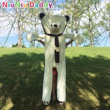 Niuniu Daddy Huge Teddy Bears Skin Wearing Scarf Unstuffed Witn Cotton DollS Bear Plush Toys For Girls Birthday Gifts Best Gifts