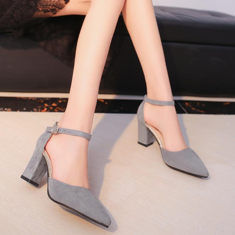 HTB1BD58aoR1BeNjy0Fmq6z0wVXar 2019 Fashion High Heels Newest Women Pumps Summer Women Shoes Thick Heel Pumps Comfortable Shoes Woman Platform Shoes s0013