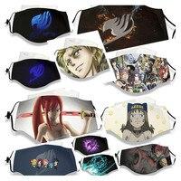 Fairy Tail Венди Elfman Люси хартфилия Нацу Эрза серый косплэй модные летние зимние дыхание маска для PM 2,5 респиратор