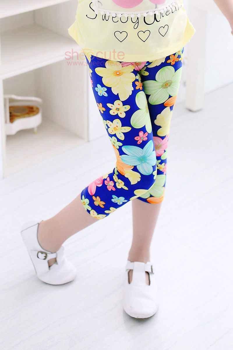 Sommer Mädchen Leggings Milch Seide Leggins Für Kinder Teenager Hosen Gedruckt Kinder Hosen Dünne Baby Unten Kleidung