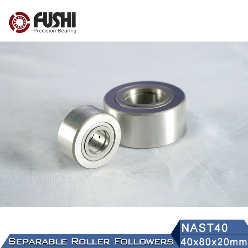 NAST40Roller Followers Bearing 40*80*20mm ( 1 PC ) Separable Type NAST 40 R Bearings Free Shipping