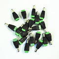 DSHA New Hot 20 Pcs 2.1 x 5.5mm DC Power Male Connector Plug for CCTV Camera