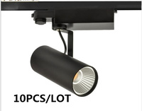 10PCS/LOT COB IP20 Track light led rail lamp leds spotlights iluminacao lighting fixture for shop store 30W AC 240V