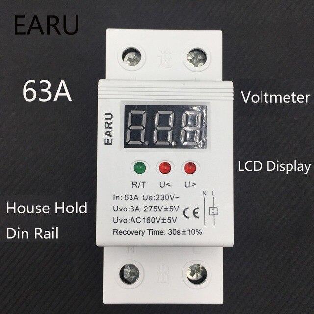 1 pc 63A 230 V Auto Récupération Reconnexion Automatique