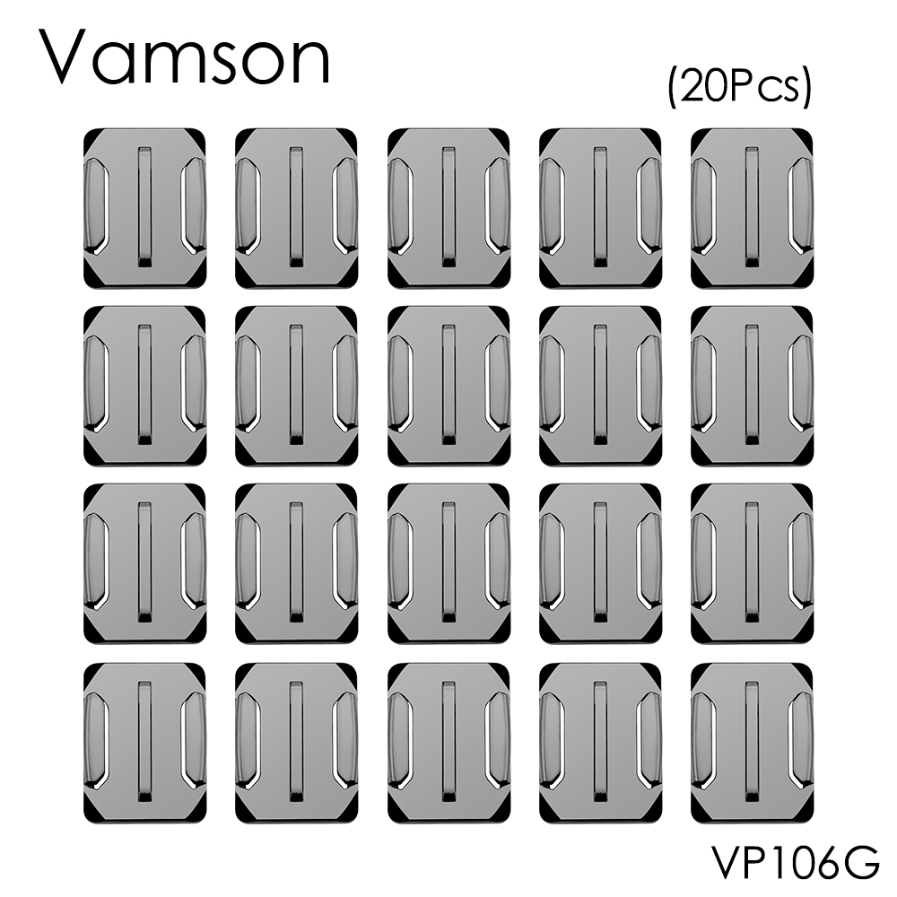 Vamson for Gopro Accessories 20pcs Curved Surface Mount For Gopro Hero 5 4 3+ for Xiaomi for Yi for SJ4000 for eken h9r VP106G