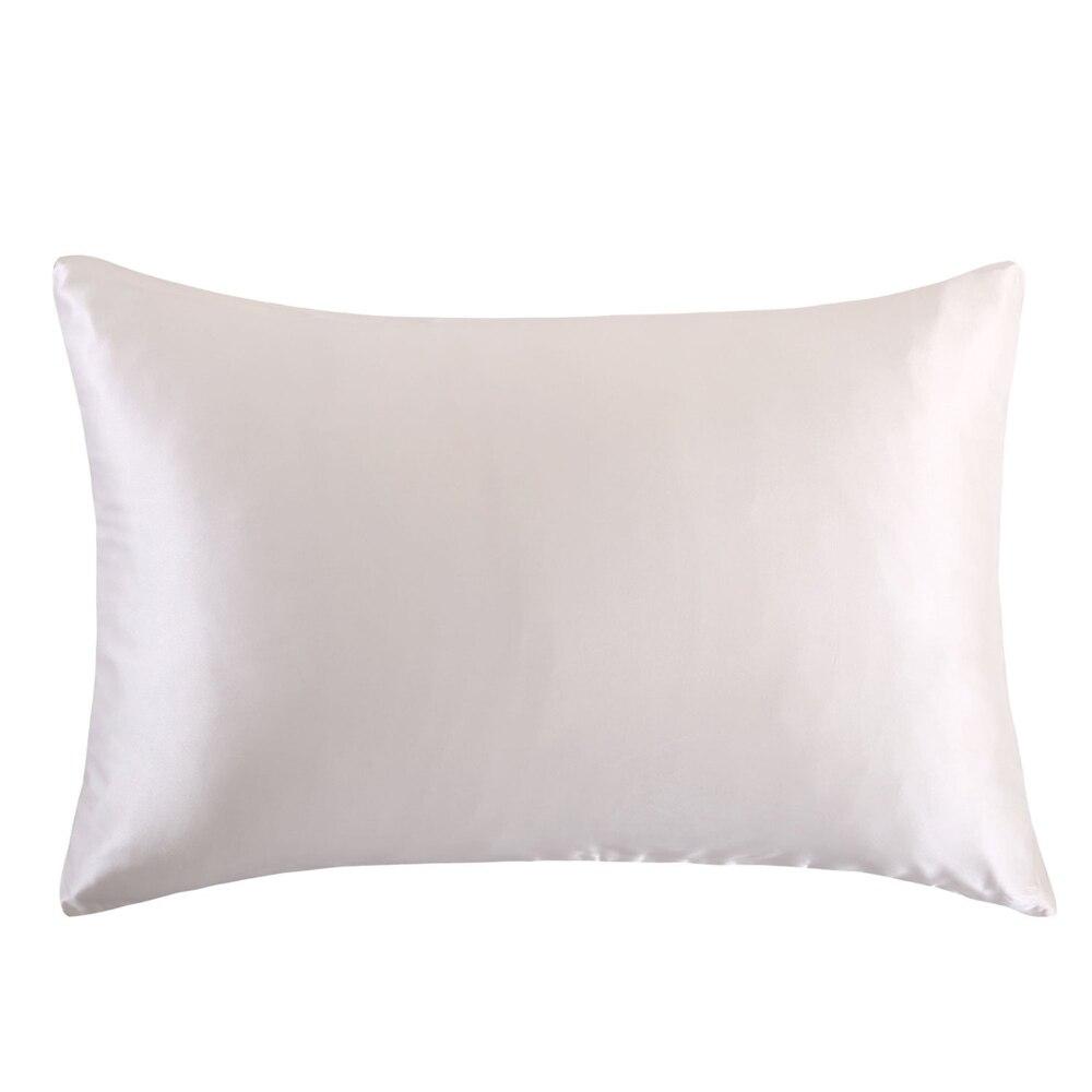 Envío Gratis 100% naturaleza seda funda de almohada con cremallera almohada saludable floral estándar reina rey