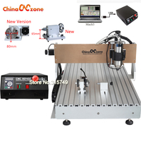 CNC 6090 2 2KW 4axis CNC Router Engraving Drilling Milling Machine Water Cooled Spindle PCB Metal