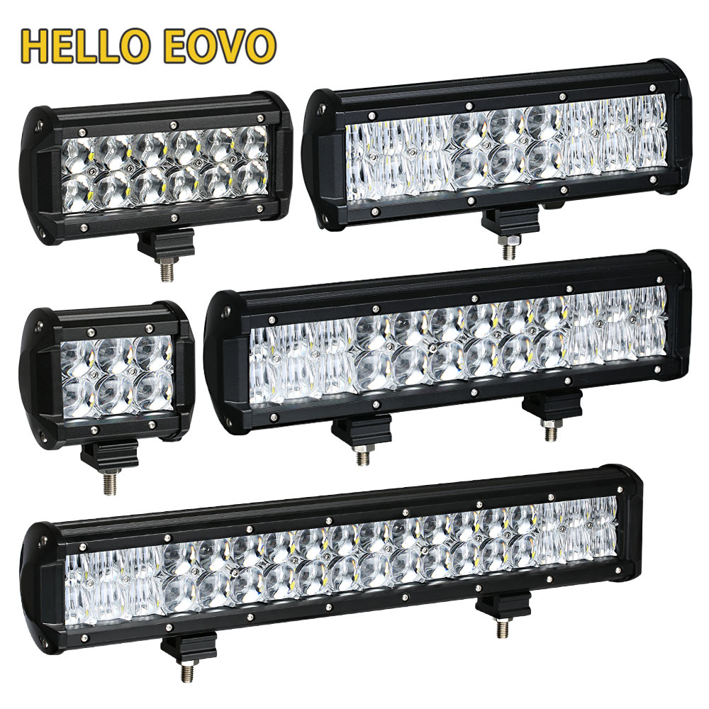HELLO EOVO LED Bar 5D 4 / 6.5 / 9.5 / 12 17 inch LED Light Bar Offroad Boat Car Tractor Truck 4x4 SUV ATV Driving LED Work Light hello eovo 5d 32 inch curved led bar led light bar for driving offroad boat car tractor truck 4x4 suv atv with switch wiring kit