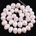 """Frete Grátis 9x10-11x15mm Freeform Natural Branco Pérola de Água Doce Gem Pedra Para Colar Beacelet DIY Jewelry Making Contas 14"""""""