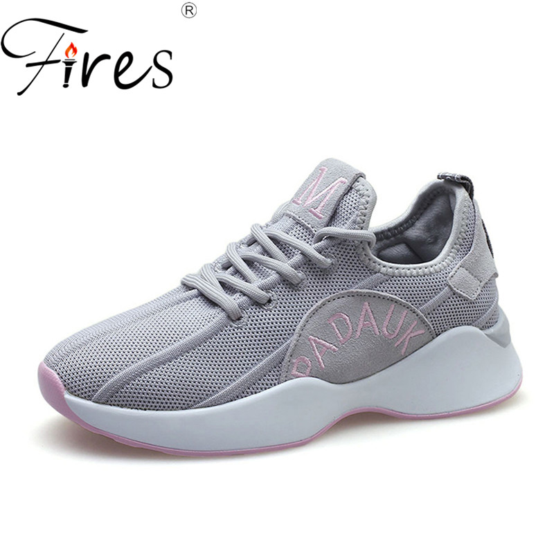 Cool Chaussures Respirant Casual Mode slip green red Zapatillas Incendies Black up Mocassins Non Lumière Sneakers Femmes Mesh Dentelle gray Dames Y0Yqvzgw