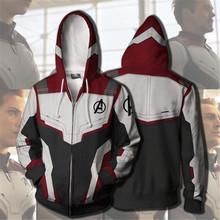Hot New The Avengers 4 Endgame Coat Cosplay Costumes Fleece Quantum Battle Suit Man Woman Movie Zipper Printing Pants Fans Gift