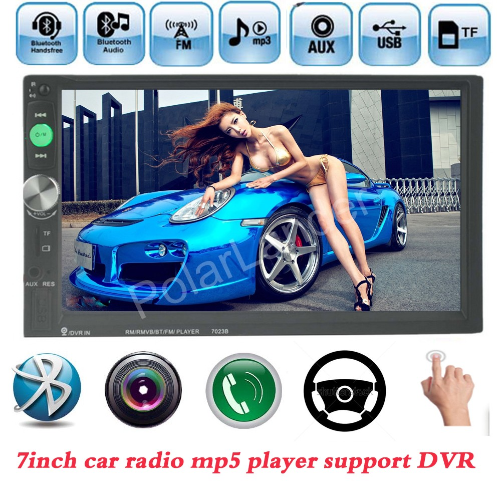ФОТО for Rear view Camera 7 background lights 7 Inch 2 Din Touch Screen Car Bluetooth Radio MP4/MP5 Player USB/TF/FM/Auxin