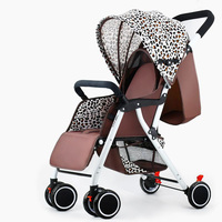 Luxury Baby Stroller Carriage High Landscape Pram Suite for Lying and Seating on 2019