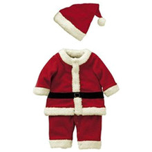 Baby Kid Boys Christmas Suits Xmas Santas Clothes Jumpsuits + Hat Cosplay Outfit Free Shipping