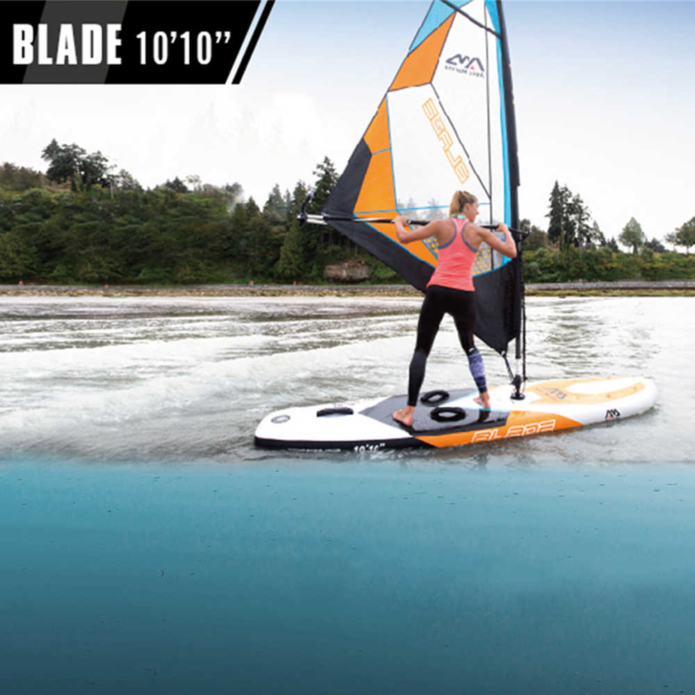 "2019 aqua marina champion 99 9 ""bt s300 windsurf sail + board levante-se pá inflável windsurf/sup-all-around cruzeiro kayak"