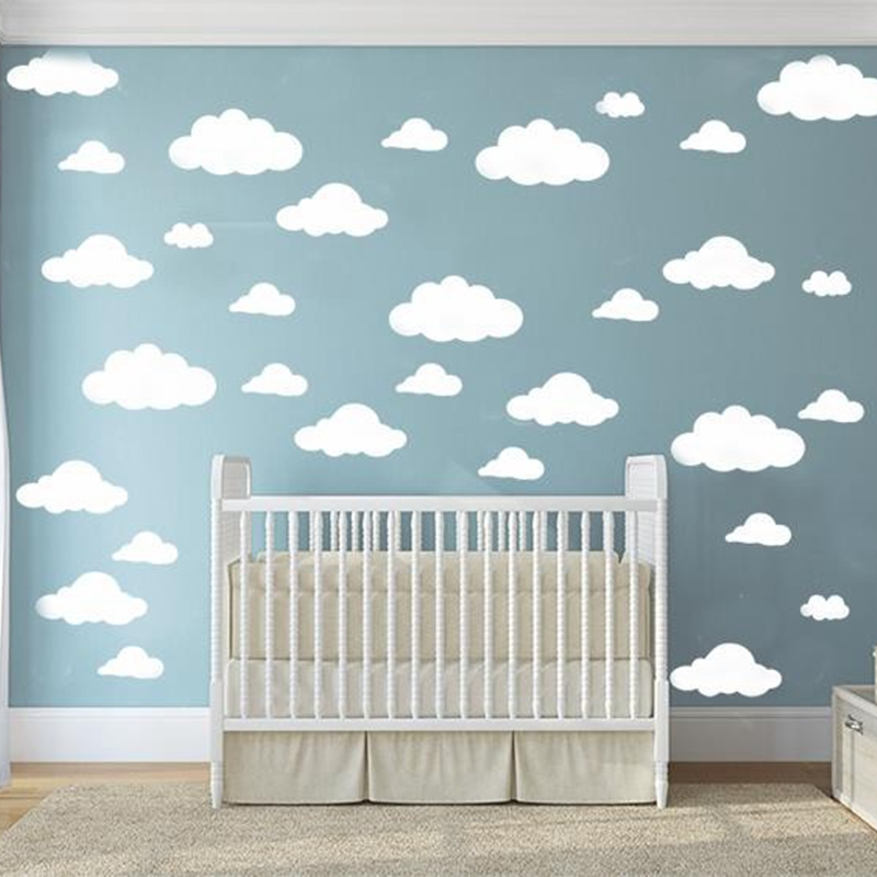 cartoon clouds  Wall Stickers Baby Room Decor