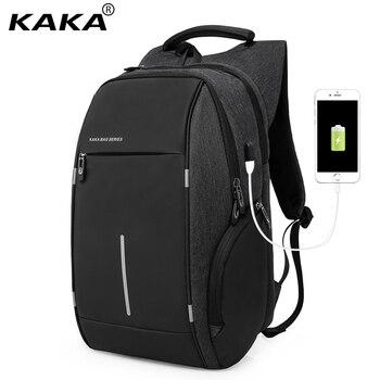 KAKA Men USB Charging Backpack 15Inch Laptop Backpack Bag Multifunction Waterproof Fashion Travel Schoolbag Male Backpacks laptop bag
