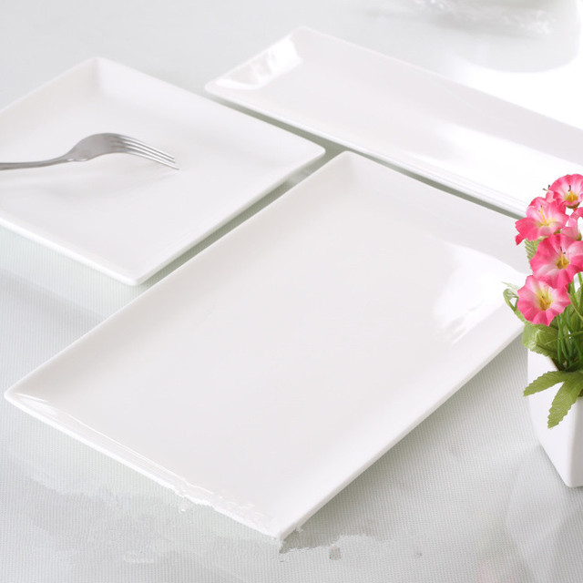 Square tableware square plate rectangular plate dish fish bone china  japanese style  plate ceramic & Square tableware square plate rectangular plate dish fish bone china ...