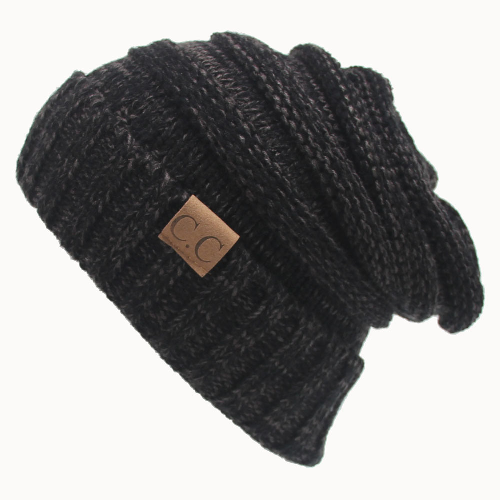 Women Men Winter Knitted Wool Cap Unisex Folds Casual Beanies Hat Solid Color Hip-Hop Skullies Beanie Hat Gorros 2017 winter women beanie skullies men hiphop hats knitted hat baggy crochet cap bonnets femme en laine homme gorros de lana