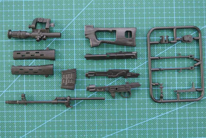 1 6 SVD Sniper Rifle 1 6 Gun Model Black Coated Plastic Military Model Accessories For 12 quot Action Figure Display And Collection in Model Building Kits from Toys amp Hobbies