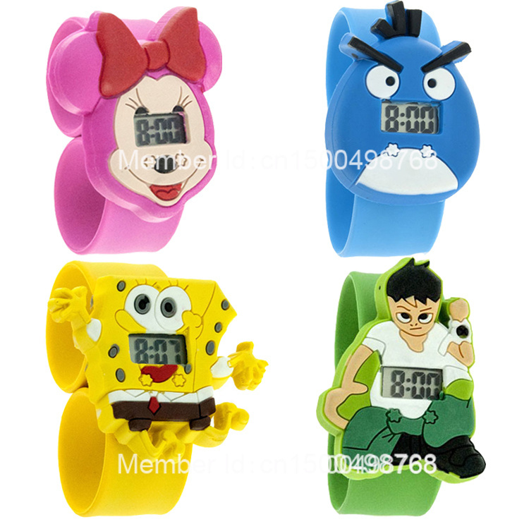 fashion kids slap watches children cartoon watch silicone (27 colors) - Nancy Girl Fashion Sets Mall store