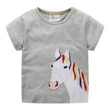 girls cartoon summer t shirts printed fashion cotton kids short sleeves baby shirt hot selling children