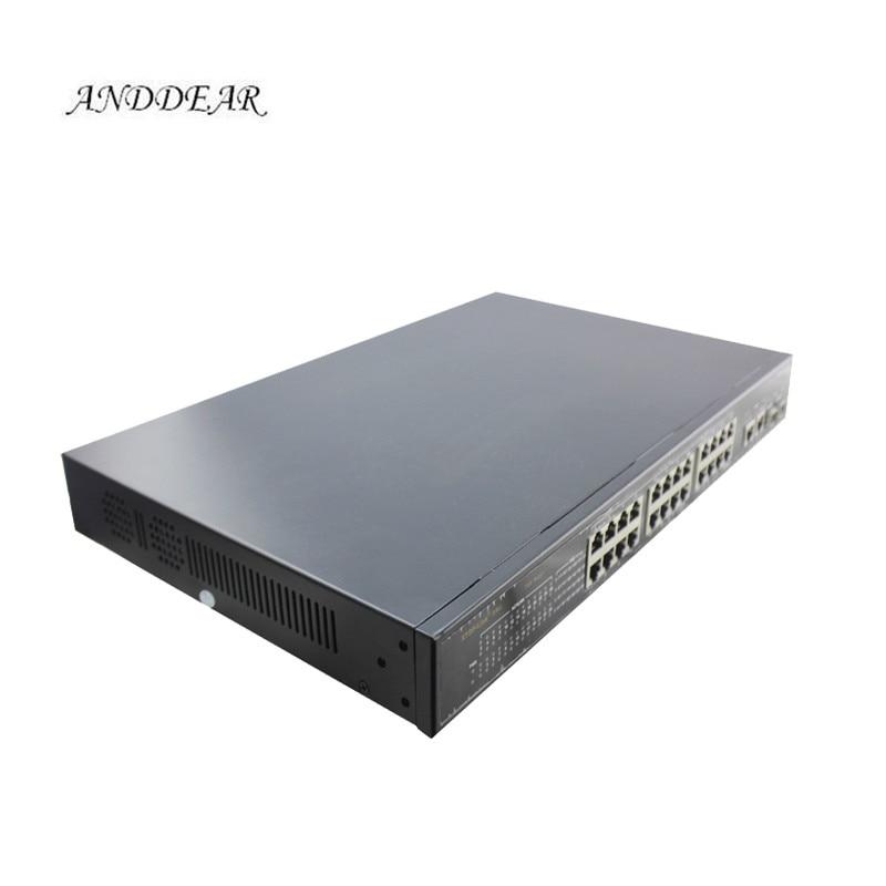 Broche d'alimentation PO IEEE802.3af/à commutateur poe actif 24 ports 1U 19