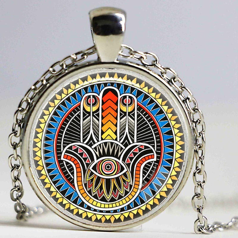 Hamsa hand amulet lucky necklace jewelry fatima hand judaica hamsa hand amulet lucky necklace jewelry fatima hand judaica kabbalah charm miriam hand pendant necklace hand made jewelry in pendant necklaces from jewelry mozeypictures Gallery