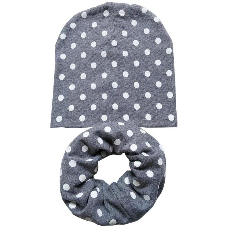 Scarf Collars Girl Boy Beanie Cap Crochet Hats 1 Set Baby Children Hat
