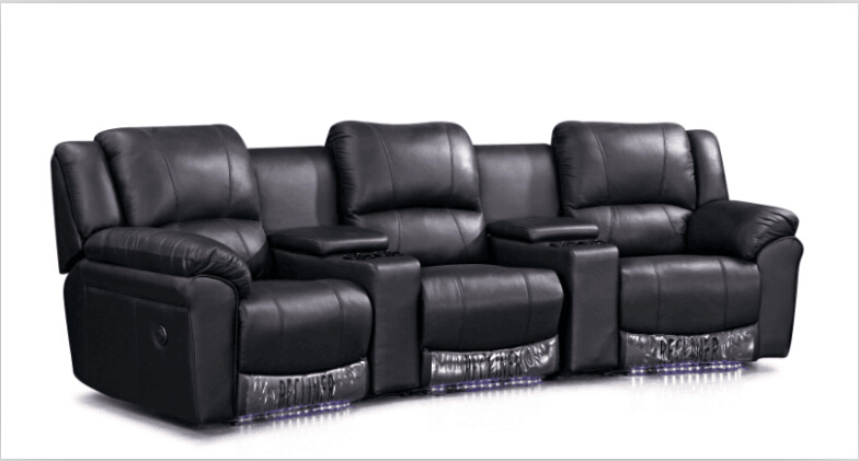 cinema chairs chairs theater with modern leather sofa recliner lounge sofa black. Interior Design Ideas. Home Design Ideas