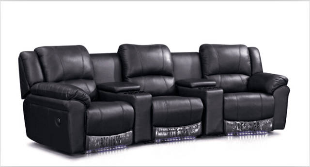 US $890.0 |Cinema chairs chairs theater with modern leather sofa recliner  lounge sofa Black-in Living Room Sofas from Furniture on AliExpress