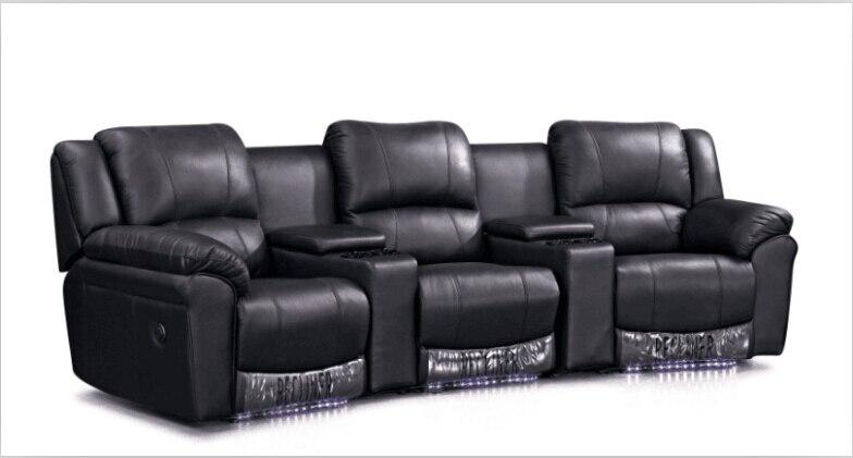 US $890.0 |Sedie sedie teatro Cinema con moderno divano in pelle poltrona  poltrona divano Nero-in Divani da soggiorno da Mobili su AliExpress