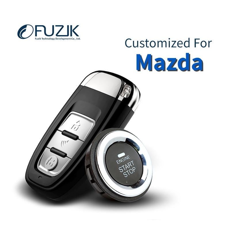 Fuzik Keyless Go Smart Key Entrée Sans Clé commencer Push Botton pour Mazda2 Mazda3 Mazda6 Atenza